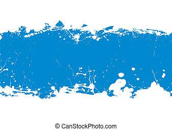 kék, transzparens, locsogás, tinta