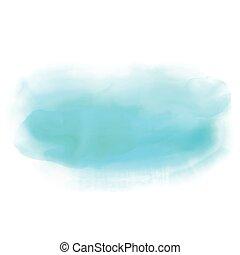 kék, vízfestmény, háttér, lemos