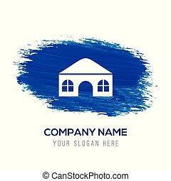 kék, -, vízfestmény, háttér, otthon, ikon