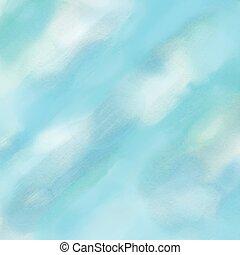 kék, vízfestmény, háttér