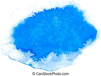kék, vízfestmény