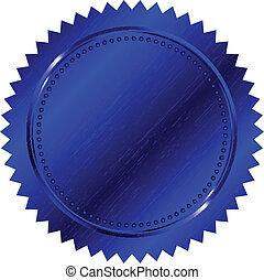 kék, vektor, ábra, fóka