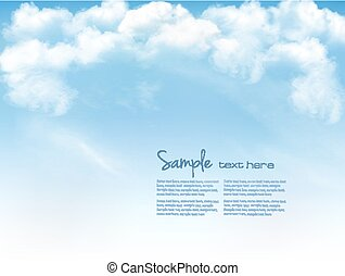 kék, vektor, ég, háttér, clouds.