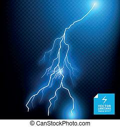 kék, vektor, csavar, villámlás