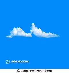 kék, vektor, elhomályosul, sky.