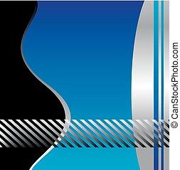 kék, vektor, háttér, lenget