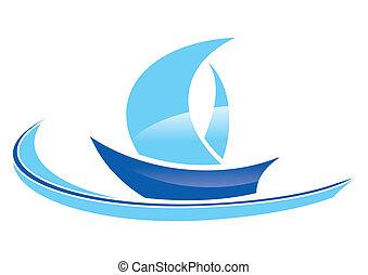 kék, vitorláshajó