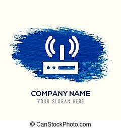 kék, wifi, -, vízfestmény, háttér, ikon