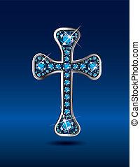 kékeszöld, keresztény, kereszt