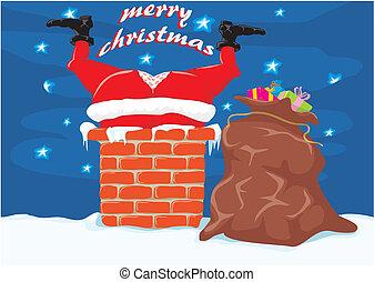 kémény, -, karácsony, szent
