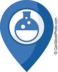 kémiai, elhelyezés, ikon