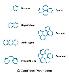 kémiai, formulák, szerkezeti