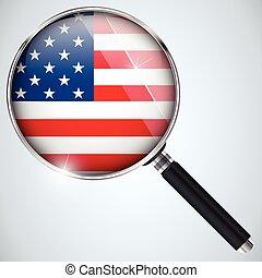 kémkedik, usa kormányzat, ország, program, nsa