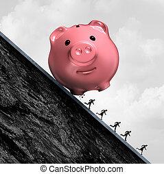 kényszer, adósság, anyagi
