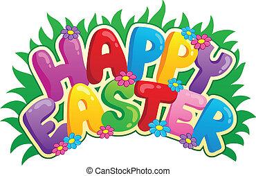 kép, aláír, téma, 2, húsvét, boldog