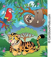 kép, dzsungel, állatok, topic, 2