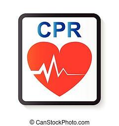 kép, ekg, ), haladó, szív, szív, cpr, ecg, alapvető, felelevenítés, cardiopulmonary, eltart, élet, (