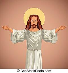 kép, imádkozás, vallásos, krisztus, jézus