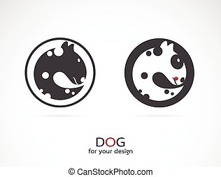 kép, kutya, vektor, tervezés, háttér, fehér