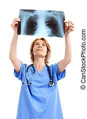kép, röntgen, orvos, orvosi