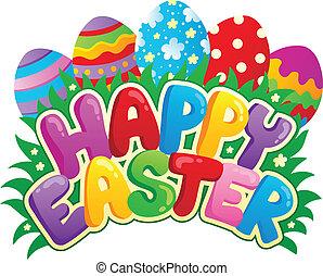 kép, téma, aláír, 3, húsvét, boldog
