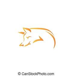 kép, vektor, róka, white háttér