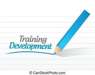 képzés, developmnet, tervezés, üzenet, ábra