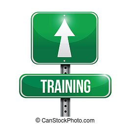 képzés, tervezés, út, ábra, aláír