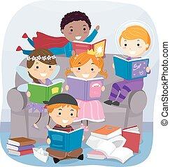 képzelet, előjegyez, stickman, felolvasás, gyerekek