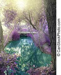 képzelet, erdő