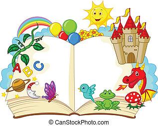 képzelet, karikatúra, könyv