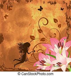 képzelet, tündér, virág