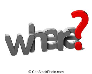 kérdez, háttér, hol, 3, szó, fehér