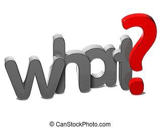 kérdez, mi, háttér, 3, szó, fehér
