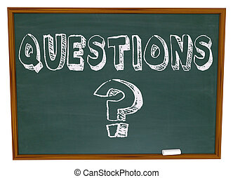 kérdez, szó, chalkboard, megjelöl