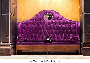 kétüléses kanapé, plüss