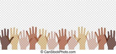 kézbesít, járdaszegély, színpompás, háttér, multi-, áttetsző, transzparens