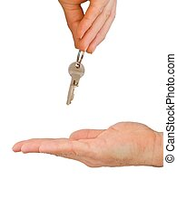 kézbesít, kulcs