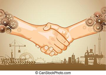 kézfogás, ipari