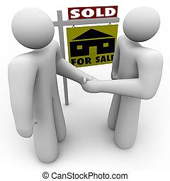 kézfogás, -, vásár cégtábla, vevő, eladó