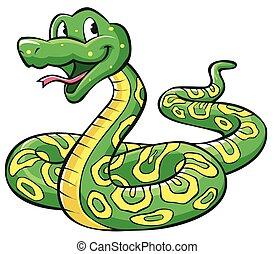kígyó, karikatúra