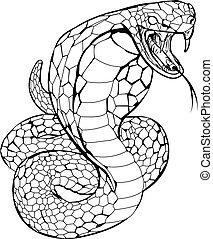 kígyó, kobra, ábra