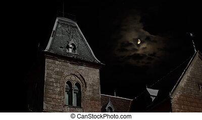 kísérteties, night., épület