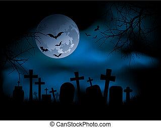 kísérteties, temető