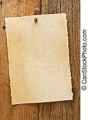 kívánatos, öreg, cowboy, aláír, falusias, idős, pergament