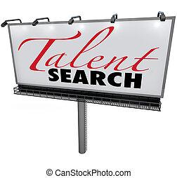 kívánatos, talál, tehetség, hirdetőtábla, keres, szakképzett, munkás, segítség