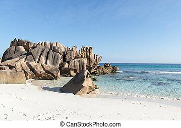 kókuszdió, seychelles, tengerpart