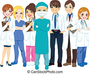 kórház, orvosi sportcsapat