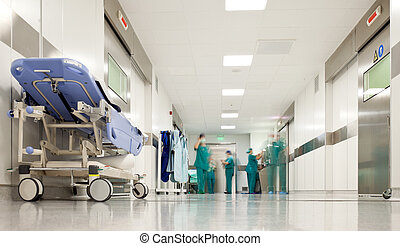 kórház, sebészet, folyosó