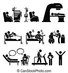 kórház, terápia, gyógykezelés